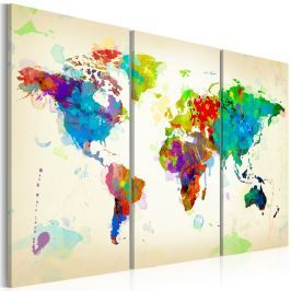 Obraz - All colors of the World - triptych