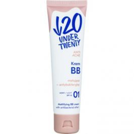 Under Twenty ANTI! ACNE matujący krem BB SPF 10 odcień 01 Light Beige 60 ml